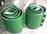 Cinturón de PVC blando con converyor Verde-Blanco