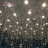 Kundenspezifischer Projekt-Lampen-Kristalldreieck-Streifen-Kreis-Beleuchtung-Leuchter