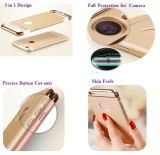 Gloden PC Hard 3 in 1 Electroplate Frame iPhone Anti - Radiation Cell Phone Case