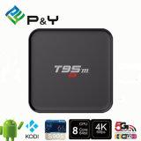 Casella astuta 1g+8g di memoria TV del quadrato S905 del Android 5.1 della casella T95m di Google TV