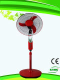 Ventilatore solare del ventilatore del basamento di CA di AC/DC 16inches DC12V con l'indicatore luminoso del LED (FT-40DC-m)