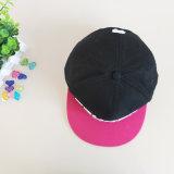 Schwarzer/rosafarbener Baumwollhysteresen-Hut/Schutzkappe der Stickerei-3D