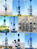 Hbking China Wholesale Oil DAB Rig Recyclers Tube à eau en verre, fabrication Zaker Beaker Glass Smoking Pipe en Stock
