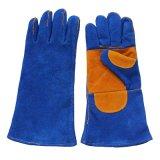 Двойные Welders кожи безопасности ладони работая перчатки