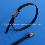atadura de cables pintada (con vaporizador) plástico del acero inoxidable de 4.6X300m m