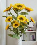 Girasole reale della pianta del fiore artificiale di tocco di alta qualità