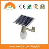 El mejor alumbrado público solar del precio 6W de China con los paneles solares