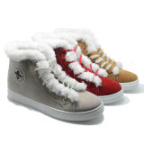 Le coton chaud neuf complété chausse des chaussures d'injection de femmes de mode de peluche