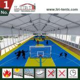 Il colore nero mette in mostra la tenda della tenda foranea per i giochi di pallacanestro