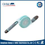 câble usb 2.1A de fabrication de bonne qualité du silicium 2in1