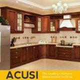 Gabinetes de cozinha por atacado da madeira contínua de madeira de carvalho vermelho (ACS2-W04)