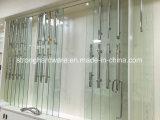 Traitements carrés de traction de porte en verre de glissement de pipe