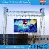 Alta pantalla de visualización de alquiler al aire libre de LED de Brigtness P10 SMD
