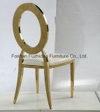 빈 고품질 스테인리스 금 결혼식 의자를 가진 둥근 뒤