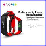 Sport di forma fisica del video di pressione sanguigna che segue braccialetto astuto