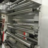 Tres impresora de velocidad mediana del fotograbado del color del motor 8 para la película plástica