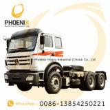 De gebruikte Tractor van de Vrachtwagen van de Tractor van Powerstar van de Vrachtwagen Beiben Ng80 Hoofd6X4 met de Technologie van Benz van Mercedes voor Afrikaanse Markt