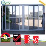 Porte coulissante en aluminium de tamis à mailles de garantie d'UPVC/