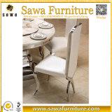 アームを搭載するステンレス鋼の現代最高背部食事の椅子
