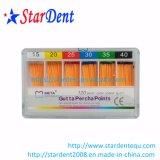 歯科メタグッタペルカポイント(色分けされた0.02の先を細くすること120ポイントの)