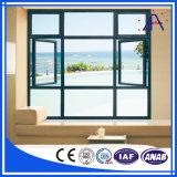 Perfil profesional insonoro de la ventana de aluminio de la brillantez