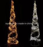 低価格屋外LEDのクリスマスのフラグのPlamの木の装飾ライト