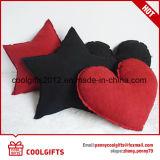 Ammortizzatore sveglio popolare del cuscino della pelle scamosciata del camoscio di figura del cuore e della stella