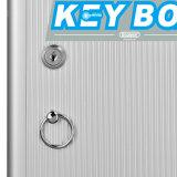 Caixa de armazenamento de alumínio portátil econômica das chaves pequenas Lockable do tamanho 24