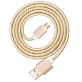 5V 2A umsponnener Nylon USB-Verbinder Typ-c aufladenkabel