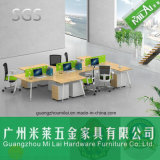 Muebles de oficinas del vector moderno del sitio de trabajo con el divisor de cristal