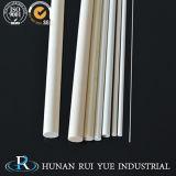 redondos de cerámica 99%Al2O3 escogen los tubos de la protección del alúmina del alesaje