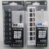 Cubo do USB de 7 portas até 480 Mbps
