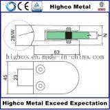 Morsetto di vetro di figura dell'acciaio inossidabile D per l'inferriata di vetro della scala
