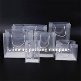 Gift Promotion Plastic Folding Clear PP Bags with Handle (sacos PP transparentes)