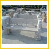 Banc en pierre d'arbre de tronçon de jardin en granit