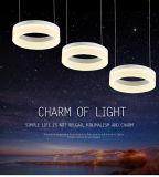 Nueva luz cristalina de la lámpara pendiente de la lámpara de la suposición LED del diseño