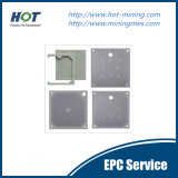 Piatto automatico ad alta pressione della filtropressa dell'alloggiamento dei pp