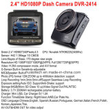 Plein véhicule neuf DVR de HD1080p construit dans le G-Détecteur, boîte noire de véhicule de détection de mouvement, appareil-photo de véhicule de cornière de vue de 5.0mega 170degree, magnétoscope numérique DVR-2414