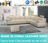 La sala de estar moderna L sofá del cuero del diseño de la dimensión de una variable fijó (HC1087)
