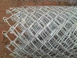 Heißer eingetauchter galvanisierter Diamant-Maschendraht-verwendeter Kettenlink-Zaun