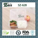Контейнер еды Microwavable ясного способа высокого качества устранимый с прикрепленной на петлях крышкой