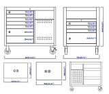 45 ящик 4 дюйма 11 встал на сторону рабочая станция; Шкаф инструмента;