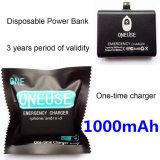 Universal um banco da potência cobrando do uso do tempo/banco descartável 1000mAh da potência