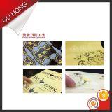 Etiqueta engomada cortada con tintas decorativa de la ropa de la impresión