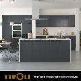 上部のキャビネットの現代台所家具(AP130)を塗る光沢