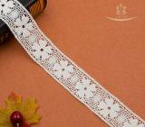 ナイジェリアドバイポリエステルファブリック織物の花嫁のトリミングのボーダーレース