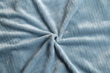 Couverture de flanelle de jacquard (two-tone colorés avec la piste)
