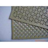 Kleur Met een laag bedekt Aluminium Geperforeerd Blad voor Gordijngevel