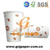 使い捨て可能な良質の習慣によって印刷される熱いコップのペーパー