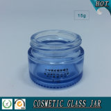 transparentes Glasglas der kosmetik-15ml
